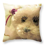 Amethyst Fairy Bear Throw Pillow