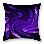 Amethyst Heart Sun Throw Pillow