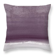 Amethyst Shoreline- Abstract Art By Linda Woods Throw Pillow
