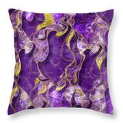 Amethyst  With Gold Marbled Texture Throw Pillow