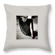 Ameynra Gothic Fashion By Sofia Metal Queen. Lace Skirt 168 Throw Pillow