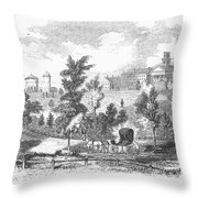Amherst College, 1855 Throw Pillow
