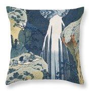 Amida Waterfall Throw Pillow