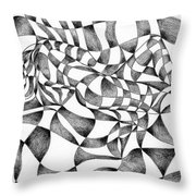 Amidst Silken Sheets Throw Pillow