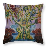 Amidst The Blooms  Throw Pillow