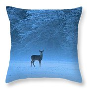 Amidst The Swirling Snow Throw Pillow