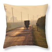 Amish Buggy And Corn Over Your Head Throw Pillow