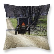 Amish Buggy March 2016 Throw Pillow