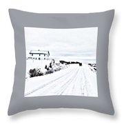 Amish Christmas Throw Pillow