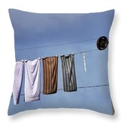 Amish Clothesline Throw Pillow