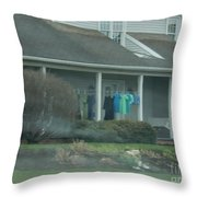 Amish Clothing Hanging To Dry Throw Pillow