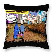 Amish Comics Throw Pillow