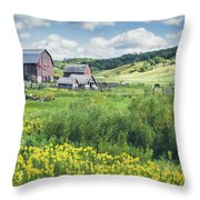 Amish Country Farm Warrens Throw Pillow