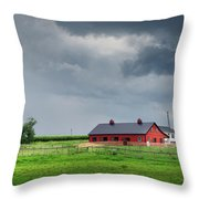 Amish County Landscape Throw Pillow