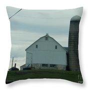 Amish Dairy Farm Throw Pillow