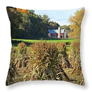 Amish Farm Country Fall Throw Pillow