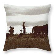 Amish Farmer 2 Throw Pillow