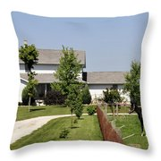 Amish House Throw Pillow