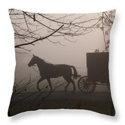 Amish Morning 1 Throw Pillow