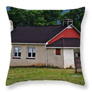 Amish School In Rote, Pa Throw Pillow