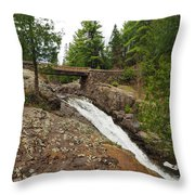 Amity Creek Falls Throw Pillow