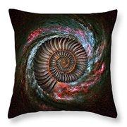 Ammonite Galaxy Throw Pillow