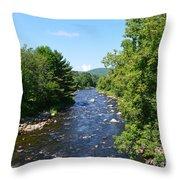 Ammonoosuc River Throw Pillow