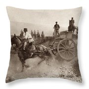 Ammunition Wagons Of An Italian Field Throw Pillow