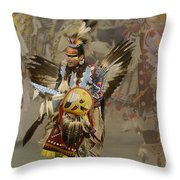 Pow Wow Among Friends Throw Pillow