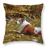 Among The Leaves Throw Pillow