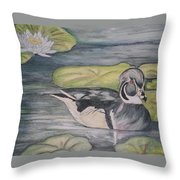 Among The Lillypads Throw Pillow