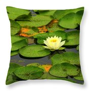 Among The Lily Pads Throw Pillow
