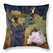 Among The Magoes At Martinique Throw Pillow