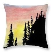 Among The Pines Throw Pillow