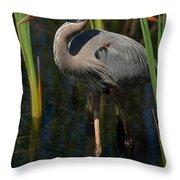 Among The Reeds Throw Pillow