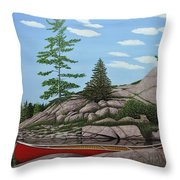 Among The Rocks II Throw Pillow