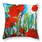 Among The Roses Throw Pillow