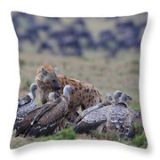 Among The Vultures 1 Throw Pillow