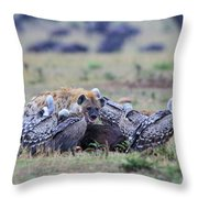 Among The Vultures 2 Throw Pillow