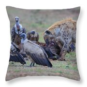 Among The Vultures 3 Throw Pillow