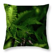 Amongst The Fern Throw Pillow