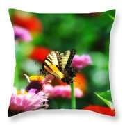 Amongst The Flowers Throw Pillow