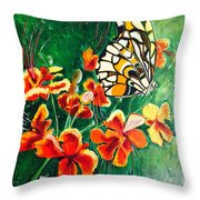 Amongst The Greenery Throw Pillow