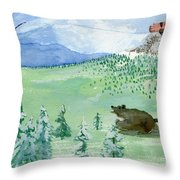 Amongst The Skies Throw Pillow