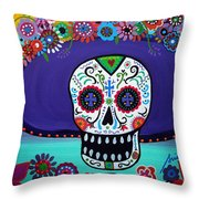 Amor Catrina Throw Pillow