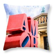 Amor In Blue Throw Pillow