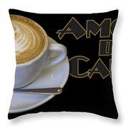 Amore Del Caffe Poster Throw Pillow