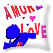 Amore Love Throw Pillow