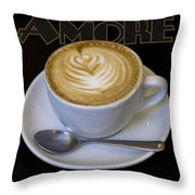 Amore Poster Throw Pillow