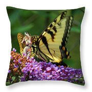 Amorous Butterfly And Faerie Throw Pillow